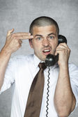 Employee hotline ready to commit suicide — Stock Photo
