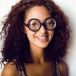 Bookworm, cute young womin glasses — Stock Photo #37418125