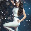 Pretty young woman in cosmic costume — Stock Photo #37418969