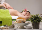 Stock photo attractive lady getting spa treatment — Stock fotografie
