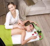 Stock photo attractive lady getting spa treatment — Foto Stock