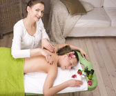 Stock photo attractive lady getting spa treatment — Stockfoto