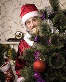 Portrait of funny Santa Claus — Stockfoto