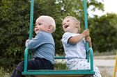 Portrait of two little boys playing — Stock Photo