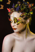 Creative make up like butterfly — Zdjęcie stockowe