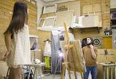 Painter at work — Stock Photo