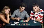 People playing poker — Stock Photo