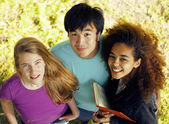 International group of students close up smiling — Stock Photo