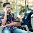 Teenager talking on mobile phone — Stock Video #36696339