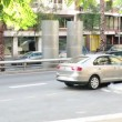 Busy city street and parked cars — Stok video
