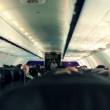 Stock Video: People on plane