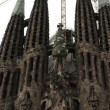 Spain cathedral Sagrada Familia — Stock Video #36715399