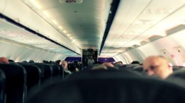 People on plane — Vídeo Stock