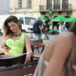 Woman talking on cellphone — Stock Video #36965083