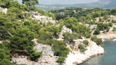 Красивая Кассис скалы — Стоковое видео