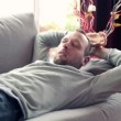 Mtaking nap on sofa — Stock Video #40341279