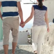 Stock Video: Tourist couple sightseeing Santorini
