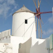 Stock Video: Classic Santorini windmill
