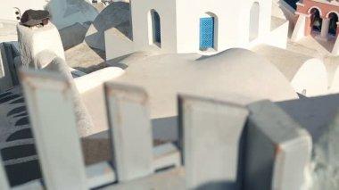 Classic Santorini architecture — Stock Video
