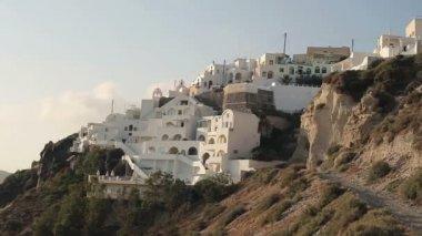 Classic Santorini architecture and landscape — Stock Video