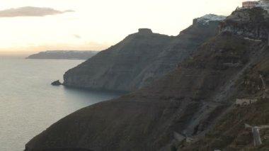 Cruise ships by Santorini island — Wideo stockowe