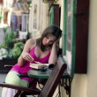 Woman reading book — Stock Video