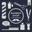 Barbershop vintage objects — Stock Vector #37105353