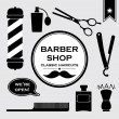 Barbershop vintage objects — Stock Vector