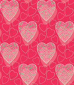 Pink romantic pattern with hearts — ストックベクタ
