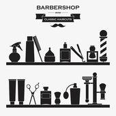 Barbershop symbols set — Stock Vector