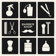 Barbershop symbols icons set — Stock Vector #37607805