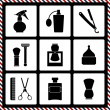 Barbershop vintage symbols in set — Stock Vector #38618575
