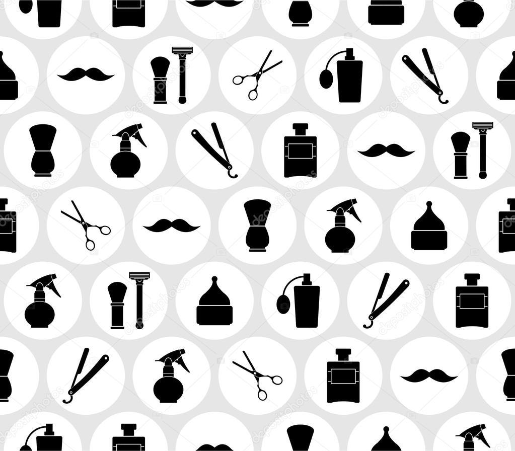 Barbershop vintage seamless pattern — Stock Vector © lub