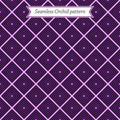 Geometric seamless Purple orchid pattern — Stock Vector