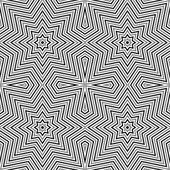 Geometric seamless monochrome pattetn — Stock Vector