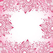 Floral decorative frame in pink colors — Stockvektor