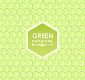 Hexagonal abstrato verde — Vetor de Stock