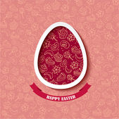 Happy Easter greeting card template — Stock Vector