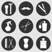 Barbershop vintage  icons set — Stock Vector