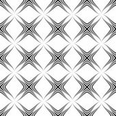 Geometric monochrome seamless pattern — Vecteur