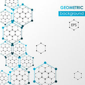 Hexagonal abstract web background. Vector design template. — Stock Vector