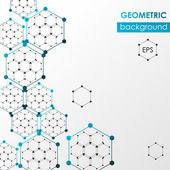 Hexagonal abstract web background. Vector design template. — Stock Vector