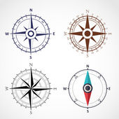 Wind rose compass flat vector symbol — Stock Vector
