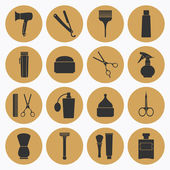 Barber Shop tools icons set — Stock Vector