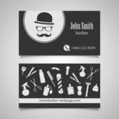 Hair salon barber shop Business Card design template — Stock Vector