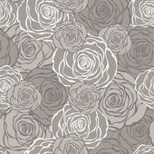 Art Deco floral seamless pattern with roses. — Stock Vector