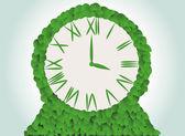 Green clock — Stock Vector