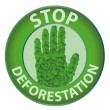 Stop deforestation — Stock Vector