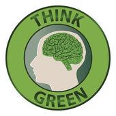 Think green — Vector de stock