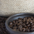 Stock Photo: Coffee Beans in Clay Pot IV